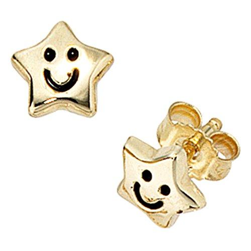 Ohrstecker Sterne SAMMY 333 gelbgold Lackeinlage Kinder