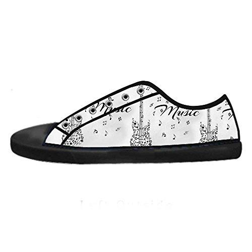 Dalliy Music Note And Guitar Men's Canvas shoes Schuhe Lace-up High-top Sneakers Segeltuchschuhe Leinwand-Schuh-Turnschuhe E