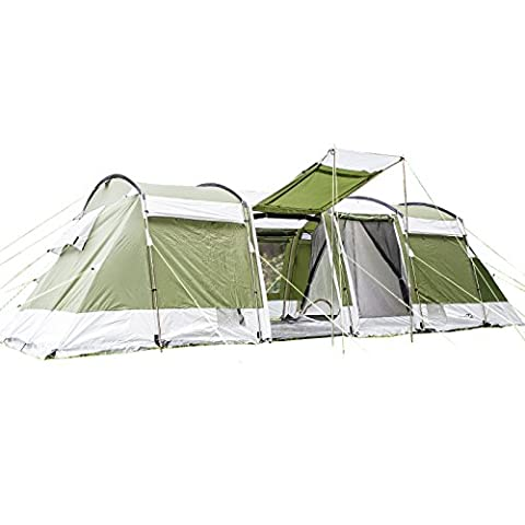 skandika Montana 8-person Family or Group Tunnel Tent with Sun