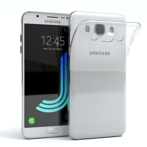 EAZY CASE Hülle für Samsung Galaxy J5 (2016) Schutzhülle Silikon, Ultra dünn, Slimcover, Handyhülle, Silikonhülle, Backcover, Durchsichtig, Klar Transparent