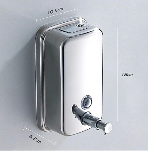 ZEYA-Pure-Stainless-Steel-Push-Button-500-ml-Liquid-Soap-Shampoo-Lotion-Dispenser