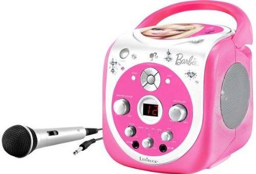Preisvergleich Produktbild Lexibook K5000BB - Barbie tragbarer CD+G Karaoke Player