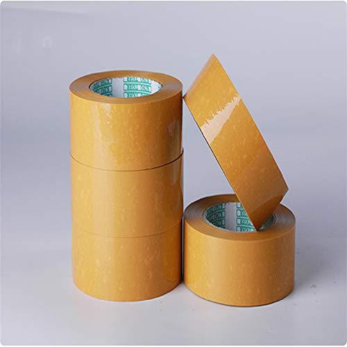 1 Rollos de cinta de embalaje resistente: cinta de embalaje segura y adhesiva de 4,5 cm x 120 m adecuada para un sello de servicio pesado en paquetes y cajas de envío