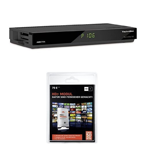 Produktbild Technisat TechniStar S2 digitaler HDTV Satellitenreceiver (HDMI, DVRready, CI+, UPnP, Ethernet) schwarz + HD Plus Modul inkl. HD+ Sender-Paket für 6 Monate gratis
