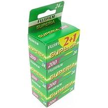 Fujifilm Superia 200 - Pack de película fotográficas (3 x 24, 24x36mm, sensibilidad ISO 200)