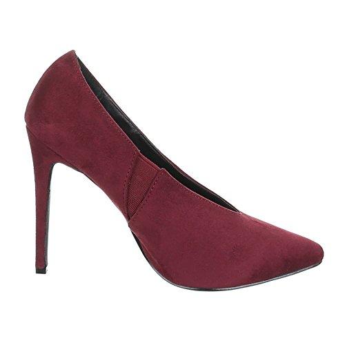Ital-Design, Scarpe col tacco donna Rosso (Vino)