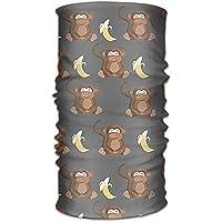 jiantsk Monkey Lovs Banana Versatile Outdoors Daily Stylish Headwear Multifunctional Sport Headband Sweatband,Magic Scarf,Head Wrap,Neck Gaiter,Bandana,Helmet Liner, Balaclava,Tube Mask