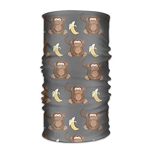 Bandeau Monkey Lovs Banana Versatile Outdoors Daily Stylish Headwear Multifunctional Sport Headband Sweatband,Magic Scarf,Head Wrap,Neck Gaiter,Bandana,Helmet Liner, Balaclava,Tube Mask Unisex18