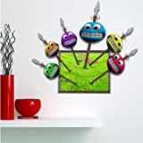 3D Baby Kids Room Smile Characters Wall Decals Removable Paper Stickers Art DIY Decoration