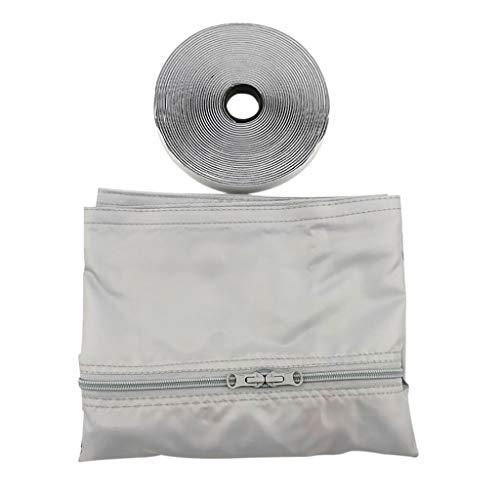 eliaSan Fensterdichtung für tragbare Klimaanlage 560CM Luftaustauschschutzgitter mit Reißverschluss für Mobile Wechselstromgeräte - Air Conditioner Portable Kit
