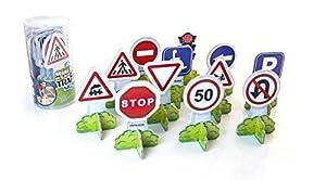 Miniland - Minimobil Traffic Signs/Europa (27461). Juguete para familiarizarse con las señales de tráfico.
