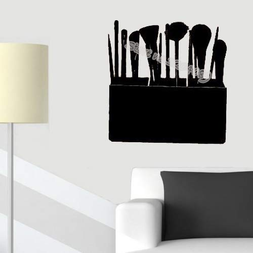 zqyjhkou Cosmetic Case Makeup Brushes Wall Sticker Fashion Make Up Studio Salone di Bellezza Girl Woman Cosmetici Rimovibili Wallpapers Ea160 42x42cm