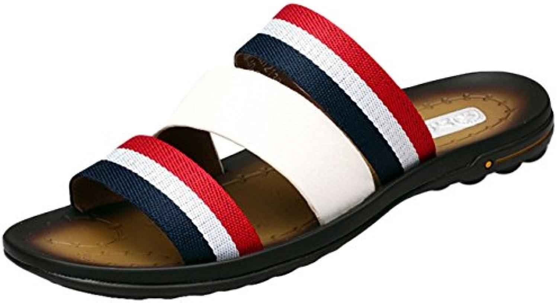 Insun Chanclas de Piel para Hombre Sandalias Zapatos de Playa y Piscina