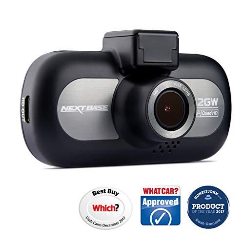 Nextbase 412GW - Full QUAD HD 1440p Dashcam Auto-Kamera mit GPS, DVR, WDR, WiFi & erweiterter Nachtsicht - Frontkamera - 140 ° Weitwinkel (Schwarz) -