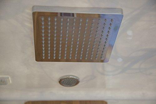 Dampfdusche Viertelkreis 100 x 100 cm, Bambus - 3