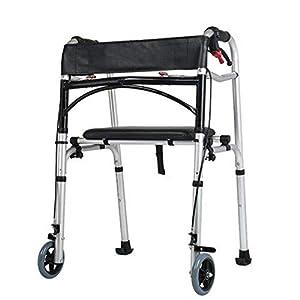 WZHWALKER Gehhilfe Für Ältere Menschen, Handbremse Aus Aluminiumlegierung, Gehhilfe Für 2/4 Laufrollen, Optional Für Mehrere Modelle