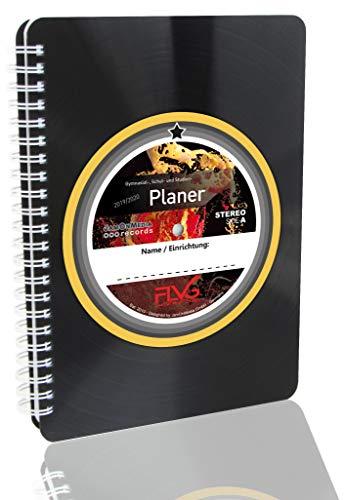 Der aktuelle FLVG Gymnasial-, Schul- und Studienplaner 2019/2020: Kalender für Schule, Ausbildung, Studium, Gymnasialplaner - Schulplaner - mit Upcycling Cover, Spiralbuch aus einer Vinyl-Schallplatte