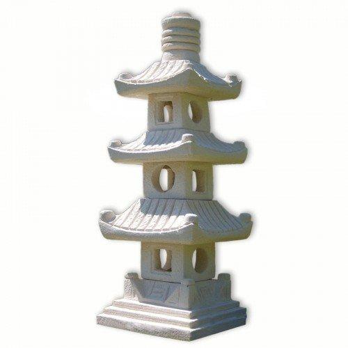 Steinfigur 3-stöckige Pagode Asiastyle Thailand asiatischer Garten Gartendeko - Asiatische Pagode