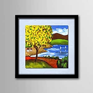 Bl peinture l 39 huile moderne paysage handgemalten lin for Peinture lin naturel