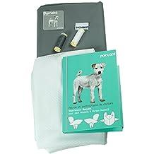 Kit costura abrigo impermeable para perro Barnabé gris Inspector Gadget forro blanca