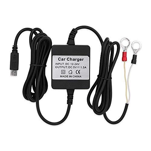 MUXAN Caricabatterie per GPS Tracker da Auto con Cavo Rigido Micro USB Car Charger Adapter Portatile TK905 / TK905B / TK915 / TK901/TK902/TK903