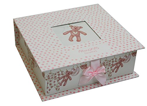 New Baby Keepsake Memory Box ~ Pink Baby Girl Keepsake Storage Box