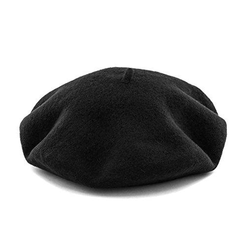Klassischer Französischer Künstler Fester 100% Wolle Baskenmützen & Barette Hat (One size, ca. 21