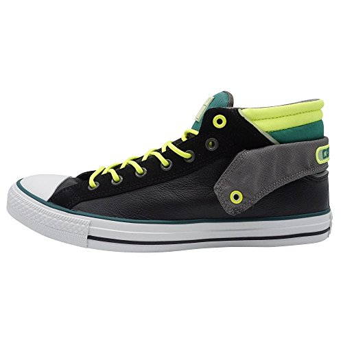 Converse CT PC Layer Mid BLK/Green Unisexe Baskets Mode Noir