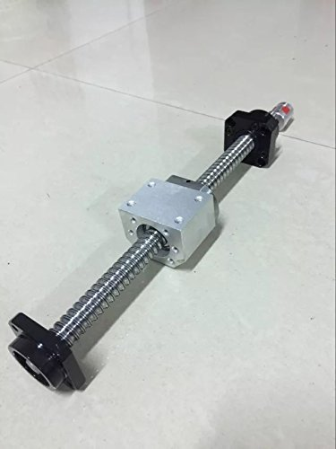 TEN-HIGH® Ballscrew CNC parts kits SFU2510 RM2510 25mm 1050mm with Metal Deflector Ballscrew nut+FK/FF20 End Supports+Ball NUT HOUSINGS+1pcs Coupler with end machining