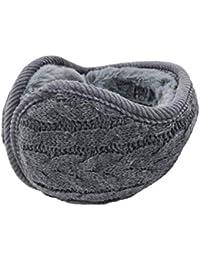 UPhitnis Strickwolle Ohrenwärmer für Damen Herren   Winter Unisex Plüsch Ohrenschützer   Warme Faltbare Ohrwärmer Earmuffs