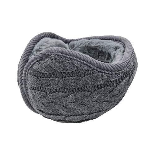 UPhitnis Strickwolle Ohrenwärmer für Damen Herren | Winter Unisex Plüsch Ohrenschützer | Warme Faltbare & Unfaltbare Ohrwärmer Earmuffs
