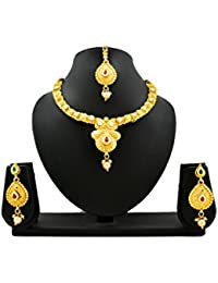 Trendest Fashion Jewellery Gold Plated Necklace Set For Women - B078R9NK49