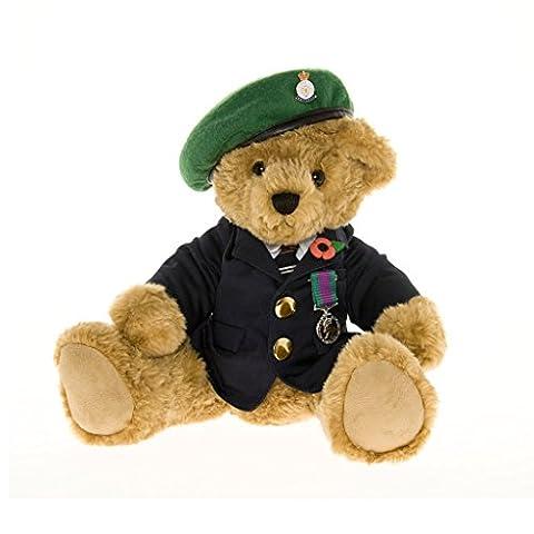 Ours en Peluche Ancien Combattant avec son Vert Bleu - La Great British Teddy Bear Company