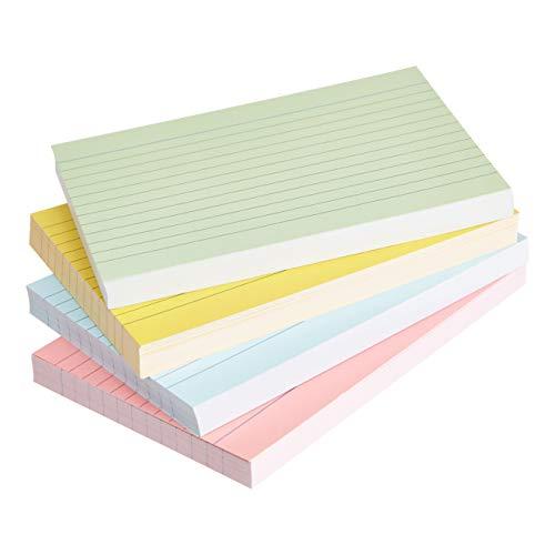 AmazonBasics - Karteikarten, liniert, A6, verschiedene Farben (200 Stück)