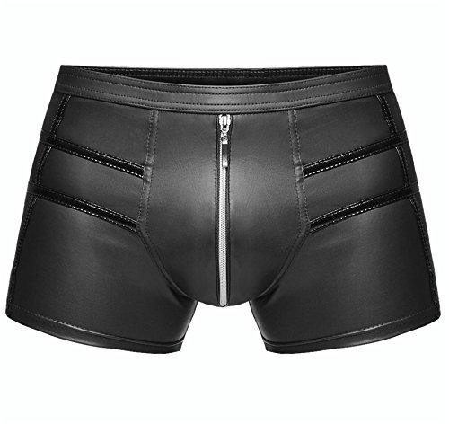 1001-kleine-Sachen at Boxer-Short H006 Herren Boxershort Wetlook-Short Herrenslip Unterhosen in schwarz von Noir Handmade Dessous (S=4)