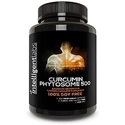 ★ Fitosoma curcumina Meriva de 500 mg ★ 2900% mejor absorción que la curcumina de cúrcuma normal ★ 100% sin soja ★ 120 cápsulas por bote ★ Complejo de fitosoma curcumina de cúrcuma