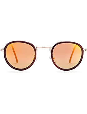 Ilove EU Mujer Gafas de sol polarizadas vintage elegante Metal Redondas Marco Aviator Gafas Gafas de protección...