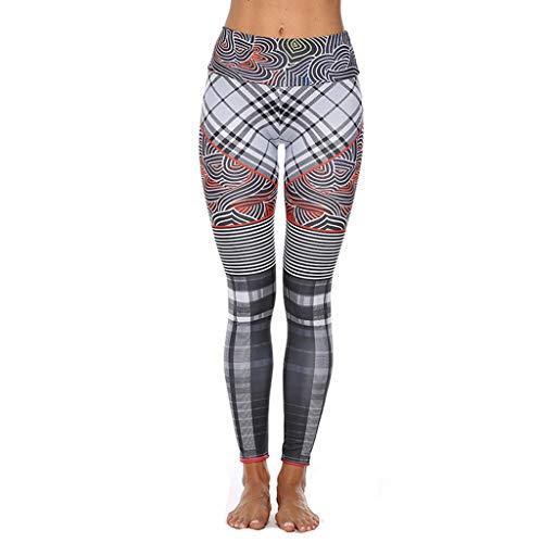Clearance!DDKK Damen Hose, hohe Taille, Bauchkontrolle, Workout, 4 Wege, dehnbar, Yoga, Gymnastik, Sport-Hose, Fitness-Stretchhose, neu XL mehrfarbig Strappy 4