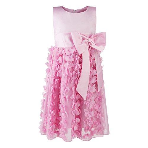 Katara 1715 - Mädchen Festkleid Prinzessin mit Rüschen, Tüll-Rock und Schleife, rosa (Prinzessin Toadstool Kostüm)