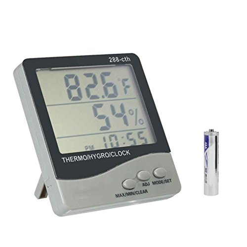 Aiming 288-CTH-LCD-Digital-Thermometer-Hygrometer Elektronischer Temperatur- und Feuchtigkeitsmessgerät Wecker Wetterstation -