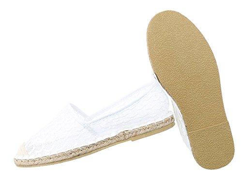 Damen Halbschuhe Schuhe Luftig Leichte Slipper Flats Slip On Grau Schwarz Pink Weiß 36 37 38 39 40 41 Weiß
