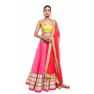 Pushp Paridhan Wedding Party Wear Traditional Ethnic Wear Machine With Hand Work Rainbow Colors Lehenga Choli Set For Women