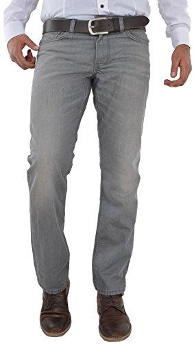 F2 Herren Jeans Hose Straight Leg gerader Schnitt NEU Blue Petrol Jeanshose W30 bis W42 verfügbar (W38/L34, Light Grey/hellgrau) (Outlet Grau)