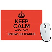 RED Keep Calm and Love Snow-2066-Tappetino per il Mouse, motivo: leopardo