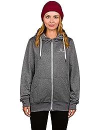 Sweatshirt À Capuche Snowboard Zippé Femme Volcom Cascara Noir