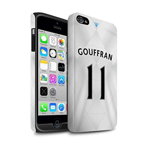 Offiziell Newcastle United FC Hülle / Matte Harten Stoßfest Case für Apple iPhone 4/4S / Pack 29pcs Muster / NUFC Trikot Away 15/16 Kollektion Gouffran