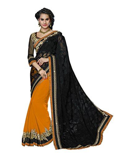 Mahotsav Women's Net,Brasso,Chiffon Art Silk Saree ( 8410 D )  available at amazon for Rs.1925