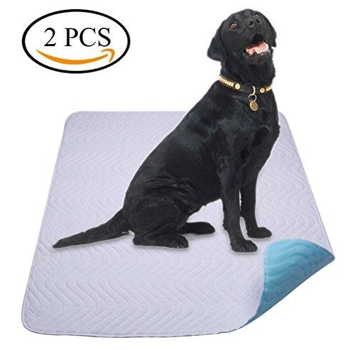 Trainingsunterlagen für Großer Hund - Trainingsmatten Welpe - Waschbare Welpenunterlage Trainingspads für die Sauberkeitserziehung - 2pc (70 * 90 cm)