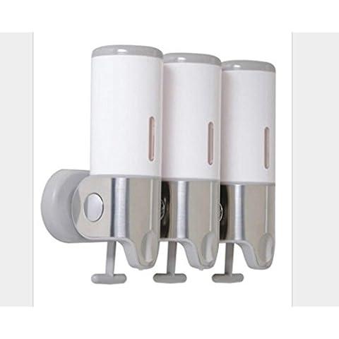 OOFAY YSPJ ® Multifunción presión acero inoxidable tres jabón jabón de líquido emulsión de dispensador de caja , white