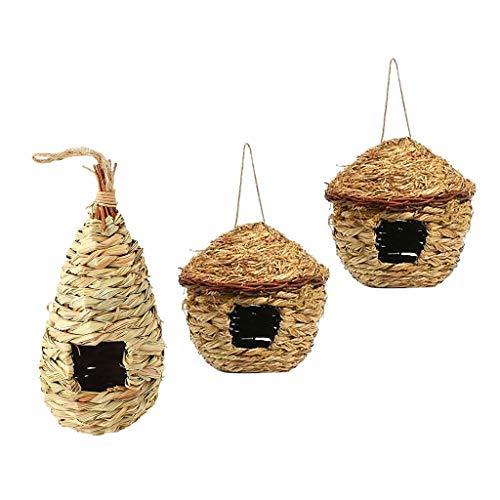 FLAMEER-3-Pz-Nidi-di-Uccelli-per-Adorabili-Pappagalli-e-Uccelli-Una-Calda-e-Confortevole-Capanna-per-Riposare